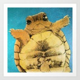 TURTLE HUG Art Print