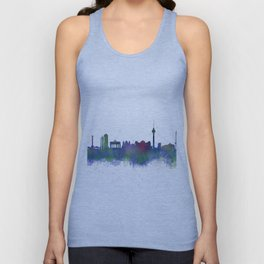 Berlin City Skyline HQ2 Unisex Tank Top
