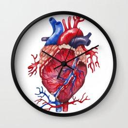 Watercolor heart Wall Clock