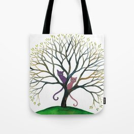 Maryland Whimsical Cats in Tree Tote Bag