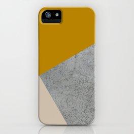 MUSTARD NUDE GRAY GEOMETRIC COLOR BLOCK iPhone Case