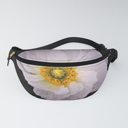 White with Yellow Center  Poppy by Reay of Light Photography Fanny Pack