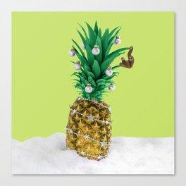 Christmas pineapple Canvas Print