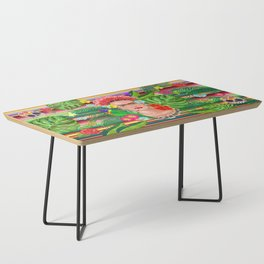 Frida Kahlo Floral Exotic Portrait Coffee Table