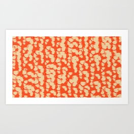 Butterflies Orange Art Print