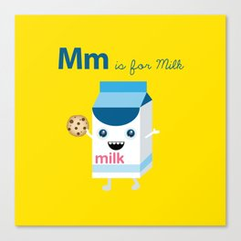 M is for Milk Canvas Print
