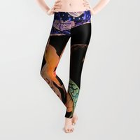 warrior Leggings featuring Warrior Almighty by Julie Maxwell