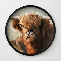 mother Wall Clocks featuring Mother by Pauline Fowler ( Polly470 )