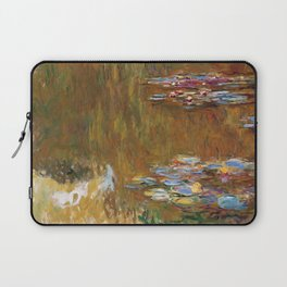 1917-Claude Monet-The Water Lily Pond Laptop Sleeve