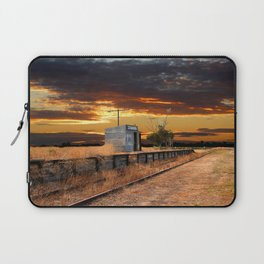 Sunset at the Coonawarra Rail Station Laptop Sleeve