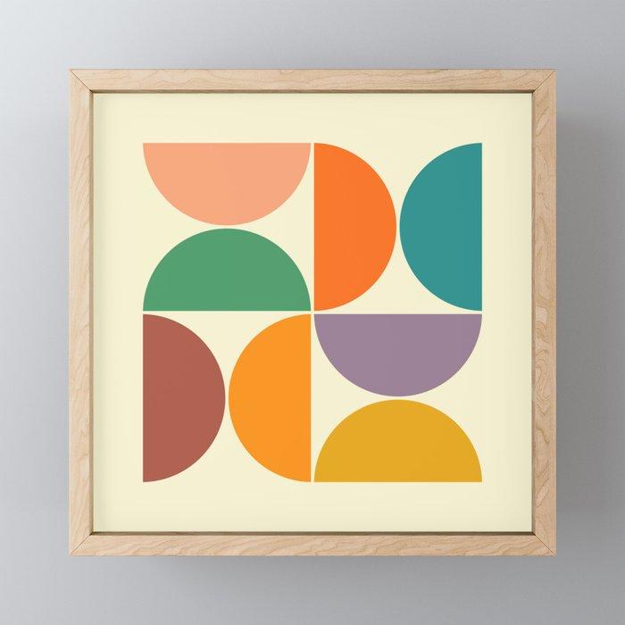 GEOMETRICS 1 Framed Mini Art Print