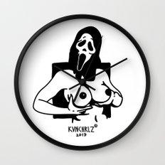 Scream Girl I Wall Clock