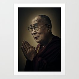 His Holiness The Dalai Lama Art Print