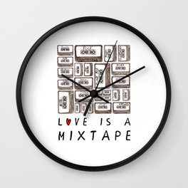 Love is a Mixtape Wall Clock