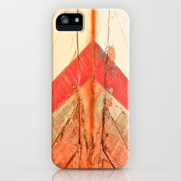 Orange Boat Hull Wooden Boats Fishing Fisherman Seafood Painted Wood Vintage Weathered Nautical Beac iPhone Case