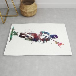 Lacrosse player art 2 Rug