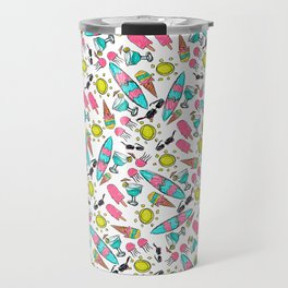 Beach Summer Pattern Travel Mug