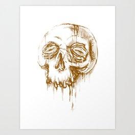 Skull Coffee 1 Art Print
