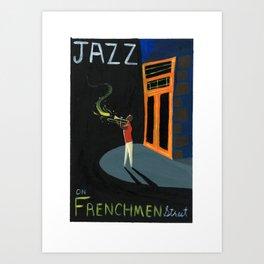Jazz on Frenchmen Art Print