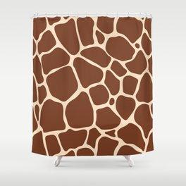 Dark Brown Giraffe Skin - Wild Animal Shower Curtain