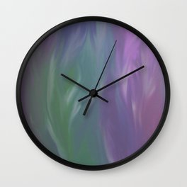 Pastel Feathers Abstract Wall Clock