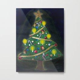 Christmas Eve - Christmas tree Metal Print