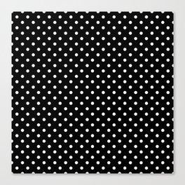 Black & White Polka Dot Pattern Canvas Print