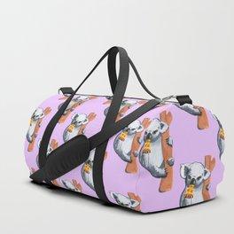 koala eating pizza pattern Duffle Bag