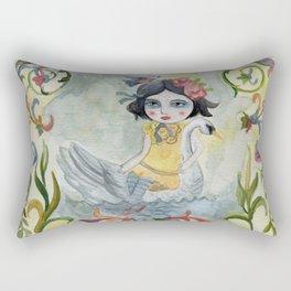 Leda and the Swan Rectangular Pillow