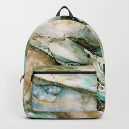 Teal Turquoise Geode Backpack
