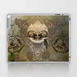 Awesome skulls with crow Laptop & iPad Skin
