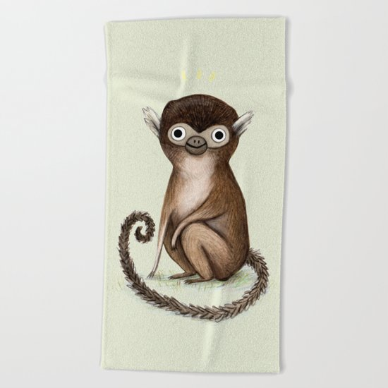 Squirrel Monkey Beach Towel