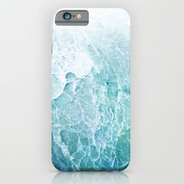 Sea Dream Marble - Aqua and blues iPhone Case