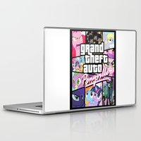 grand theft auto Laptop & iPad Skins featuring My little grand theft by eatpersonality