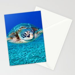 Tropical Swimming Sea Turtle Stationery Cards