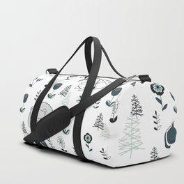 Sleepy Woodland Animals - Mint Duffle Bag