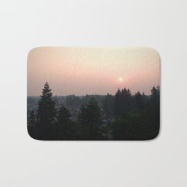 Hazy Northwest Sunrise Bath Mat