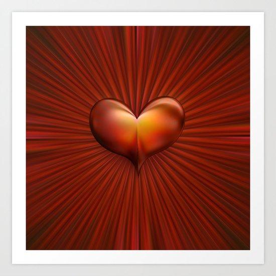 Leuchtkraft des Herzens Art Print