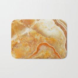 Brown Marble Stone Print Bath Mat