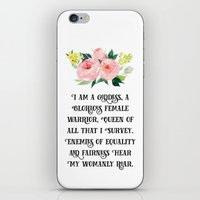 parks and recreation iPhone & iPod Skins featuring Pawnee Goddesses' Creed- Parks & Recreation by Genuine Design Co.