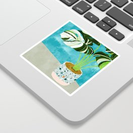 Variegated Monstera #tropical #painting #nature Sticker