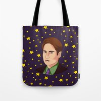 mulder Tote Bags featuring Mulder Yes by fin apollo