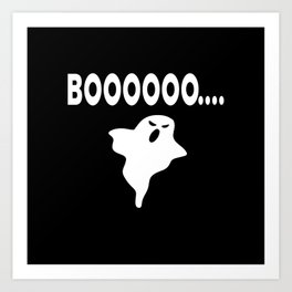 Boo Ghost Halloween  Costume Art Print