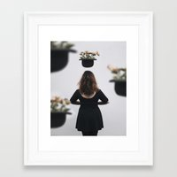 "magritte Framed Art Prints featuring ""Magritte"" by Sonja Lovdal"