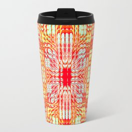 "series ""Stained glass"" - red and yellow Travel Mug"