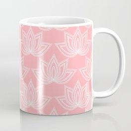 Decorative Lotus Flower Coffee Mug