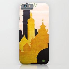 retro iconic Lwow poster iPhone Case