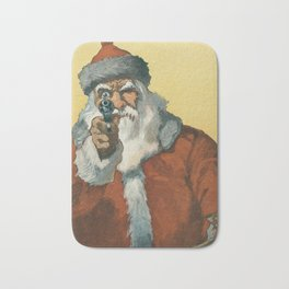 Hands Up! (Vintage / Antique Holiday Santa) - Will Crawford (1912) Bath Mat