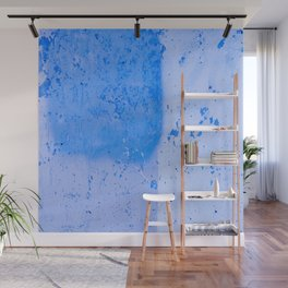 Stonewall in Pale Cerulean and Cyan Wall Mural