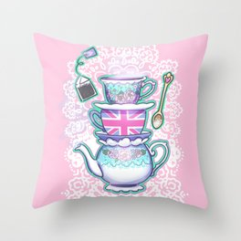 In case of emergency Drink Tea Throw Pillow